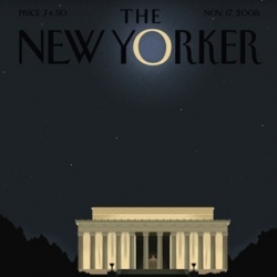 Lastest cover of The New Yorker magazine. This is their first issue out after the U.S presidential election and it was designed by Bob Staake.