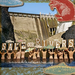 Cool New Belgium Beer ad on restoring the White Salmon River by removing Condit Dam. The 125-foot high dam is an impassable barrier and has limited salmon and steelhead to only three river miles.