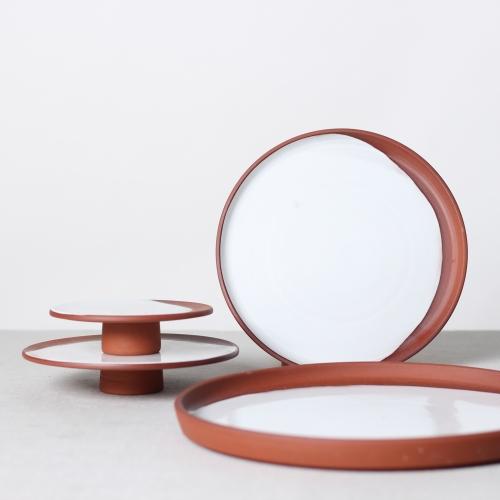 New Terracotta plates by Reiko Kaneko.