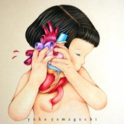 Plastique Monkey is Yuka Yamaguchi's art blog. I love this drawing called New Heartbeat