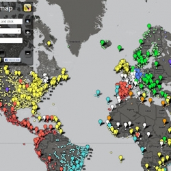 Newspaper Map, a comprehensive catalogue of all the prominent newspapers of the world arranged on a Google Map.