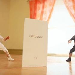 Ninjas Unbox a Google Nexus One by Patrick Bovin.