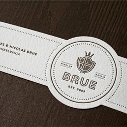 Simple sample leterpress wedding invitations by Nick Brue.