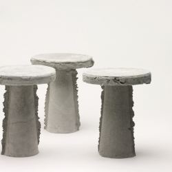 Slip stools, concrete stools by french designer Nicolas le Moigne.