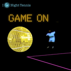 Sony Ericsson Night Tennis in Miami ~ with music from Paul Oakenfold, Gen Art fashion shows, and black light tennis outfits on the court!