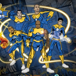 Nice Nike Basketball campaign in Europe transforming Maccabi Elite players into comix super heroes.