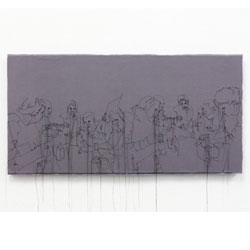 New work from Nike Schroeder. Lovely needlework on canvas.