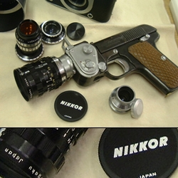 NOT A TOY! The DORYU 2-16 Pistol Camera is definitely not a toy. It's 16mm police issue.