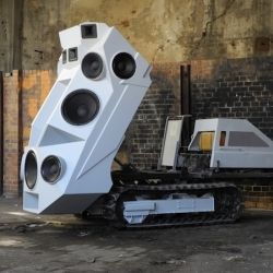 Artist Nik Nowak came up with the 'Panzer' Soundtank, a 11-speaker monstrosity mounted on a flatbed.