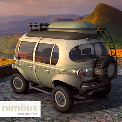 Nimbus Concept e-Car by Hemisferio Criativo. Adorably bubbly!