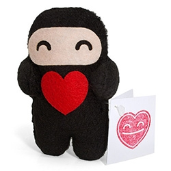 Shawnimal's handmade Love Ninja's perfect for Valentine's Day (or any other lovely occasion)
