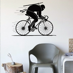 Ninja Rider from Blik is a wall decal based on the Threadless t-shirt design Ninja Rider by RL76.