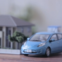 It might only be a little car but the Nissan Leaf can use its battery to power a whole house with electricity.