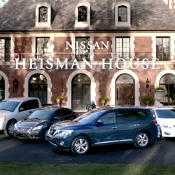 Nissan and ESPN's Heisman House campaign features 12 trophy winners and one actor all celebrating the coming college football season with a little humor and a few cars.