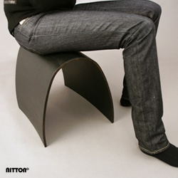 Nittonº - A stool designed to minimize material and allow maximum weight. Put it together and create patterns in the room, nineteen stools makes a circle. Designed by Karl-Oskar