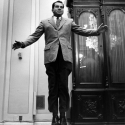 Philippe Halsman's JUMP pictures from the '50s are so much fun. He even got Nixon to leap for joy!