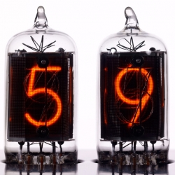 The Chronotronix V400 Nixie Tube Clock is a celebration of purist electronic elegance. Well balanced proportions and a clear geometry make up for a coherent and disciplined yet charming design.