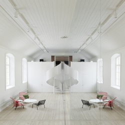 Stunning new offices of design firm No Picnic in Stockholm, Sweden.