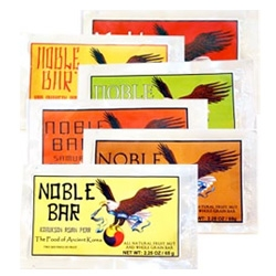 Noble Bar ~ new energy bars that have packaging that feels like retro asian meets boy scouts?
