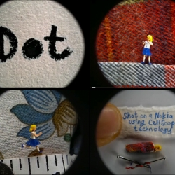 The 'Dot' film, created by Sumo Science at Aardman with a brand new Nokia N8 mobile. , is a stop-motion animation starring the world's smallest character.