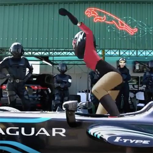Noodle of the Gorrillaz is the new global ambassador of Jaguar Racing. See her hijack their new Formula E car in this fun teaser.