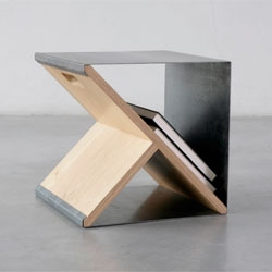 A portable stool/shelving system from Noon Studio.