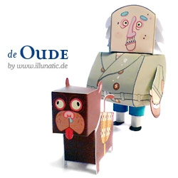 """Get """"de Oude""""  for free. This guy and his doggy are looking for a nice place on your desktop. Maybe he´s gonna love you, too :)"""