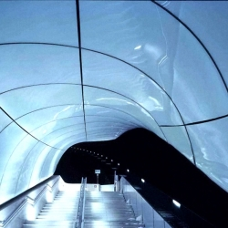 This weekend Euro 2008 kicks off in Austria. Some matches are going to played in Innsbruck. I hope some of the players/spectators take a tour and checks out Zaha Hadid's cool looking cable train stations.