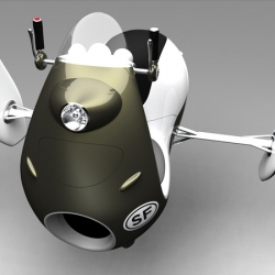 Norio Fujikawa gets full-marks for this radical Jetscooter concept. The designer has a penchant for futuristic ideas, with retro styling, and transport innovation that might become a reality in, say 2025.