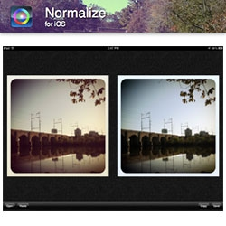 Normalize App by Joe Macirowski is the anti-instagram, undoing all those vintage filters (or unvintaging actual vintage pics!)