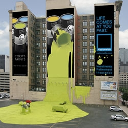 Massive ambient ad for Nationwide Insurance. By TM Advertising, United States