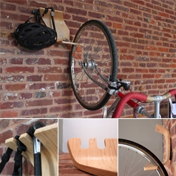 Another bent plywood bicycle stand from ClankWorks. This time they go vertical with Perch.