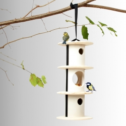 Bird Breakfast - Cozy and modular half board accommodation for our feathery friends. Design by Andreu Carulla for Utoopic.