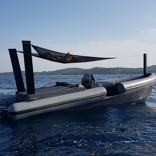 Dubrovnik Republic built this diplomatic getaway boat for free use of its citizens. Powered by a 300HP jet engine it gets you in (or out of) trouble north of 65MPH.