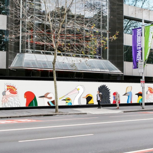 Birds of Australia by Eggpicnic is one of 10 new public artworks revealed by the City of Sydney set to change the cityscape.