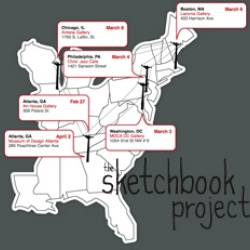 Art House is doing another Sketchbook Project. However, this time they're taking it on tour to different galleries in six cities across the United States! Sign ups are currently open to participate.