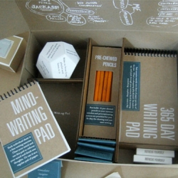 The Writers Block Kit by Elizabeth Dilk comes with several items that can boost the writers inspiration.