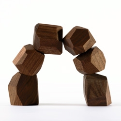 Zen Blocks - Keep a pile on your desk or coffee table.  Made of urban harvested walnut and other local species.  Let your kids stack them up, or keep them to yourself.