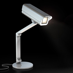 It's not a security camera! It is Spoticam, new light design from Antrepo. It comes with adjustable arm, you can use it on your table or wall.
