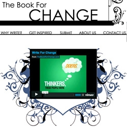 Social Change + Writers + Good Design = A contributed compilation book trying to change the world. Loving the simple, subtly colored website and the unexpected favicon managed to put a smile on my face! Hopefully the book will be just as good.