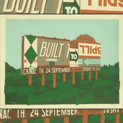 Discover for yourself the new posters from little-known totally-amazing rock poster group LandLand. This Minneapolis design and print team makes it their mission to re-define the way rock posters are made. Built to spill!