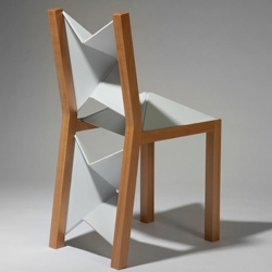 This chair by Christopher Mark Johnson folds completely flat utilizing polypropylene living hinges.