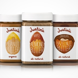 Justin's Nut Butter, a line of small-batch, natural and organic nut butters, was recently redesigned to increase distribution in fine food outlets (e.g. Dean &DeLuca, Whole Foods, Crystal Farms).