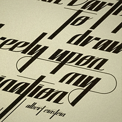 Einstein typeface is based on a combination of old that can always easily turn into modern.