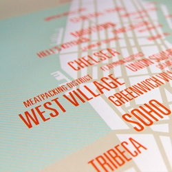 New series of modern city maps: Manhattan, Brooklyn, San Francisco, Los Angeles, Chicago and DC!