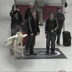 Augmented reality campaign by Lynx in the UK where angels fall from Heaven for lucky Lynx men (video)
