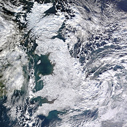 Let it #uksnow, let it #uksnow, let it #uksnow. Truly amazing satellite picture taken 7th January at 11.50 UTC