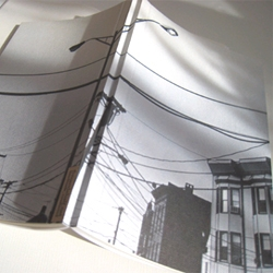 "Five and a Half. ""the monochrome collection, winter 2007."" Sustainably designed handmade journals, filled with 75 pages of sugarcane and recycled paper, and a canvas paper covers with original photography."