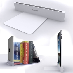 Transform your complex iPad into an iBookend, a simple bookend designed by Dominic Wilcox.