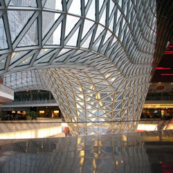 MyZeil, a shopping center in the middle of Frankfurt, Germany designed by Italian architect Massimiliano Fuksas.